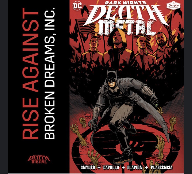 So, Rise Against did a Song for DC's Death Metal (a look at Broken Dreams Inc.)